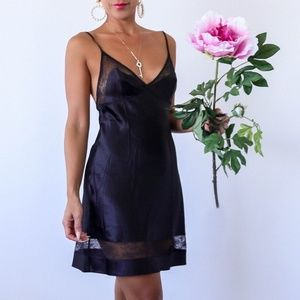 Victoria's Secret Slip Dress with Lace Sheer Panel